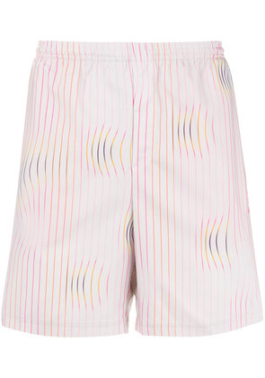 Adidas Warped Stripe swim shorts - White