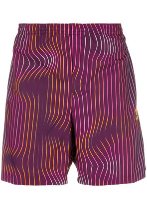 Adidas Warped Stripe swim shorts - Pink & Purple