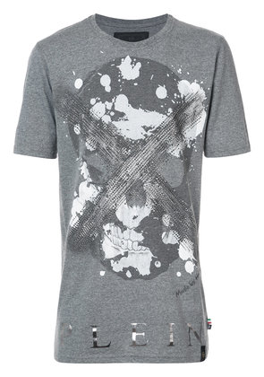 Philipp Plein Daylight Black Cut T-shirt - Grey