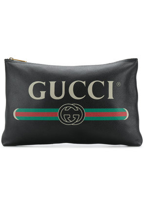 Gucci logo clutch bag - Black