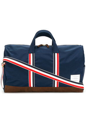 Thom Browne Unstructured Holdall In Nylon Tech And Suede - Blue