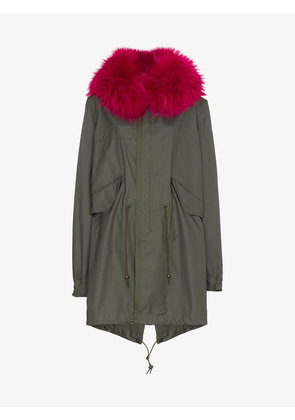 Mr & Mrs Italy Unlined parka jacket with fur collar