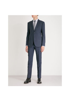 Micro pin pattern M-line wool suit