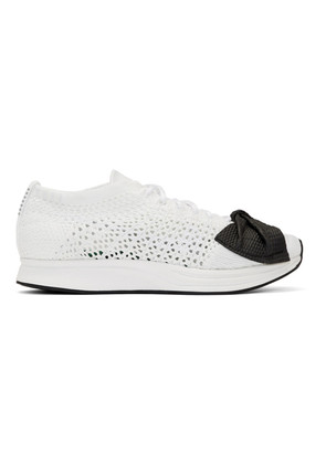 Comme des Garçons White Nike Edition Customized Racer Sneakers