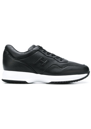 Hogan lace up running sneakers - Black