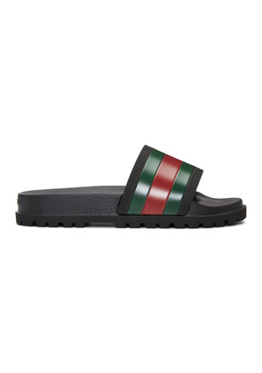 Gucci Black Pursuit Treck Slides
