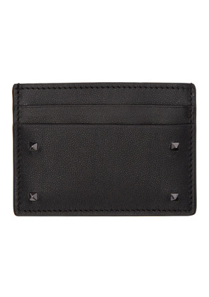 Valentino Black Valentino Garavani Rockstud Card Holder