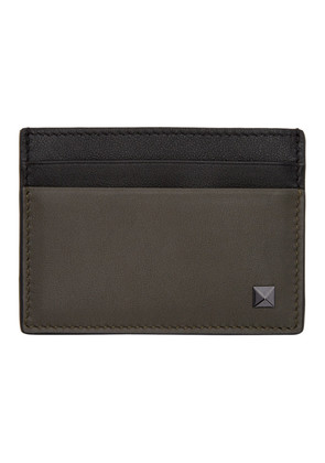 Valentino Green & Black  Valentino Garavani Rockstud Card Holder