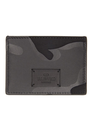 Valentino Black Valentino Garavani Camo Card Holder