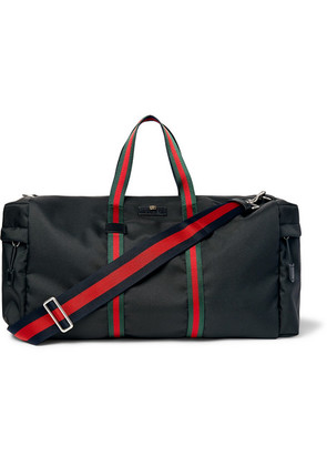 Webbing-trimmed Coated-canvas Holdall