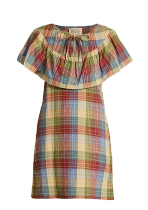 Clifton checked cotton-blend dress