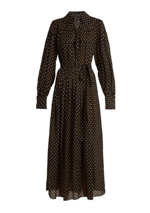 Crosby Laura polka-dot print silk shirtdress