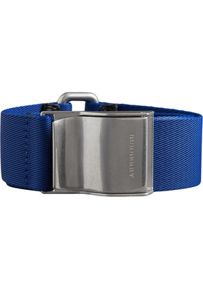 Burberry logo plaque buckle belt - Blue