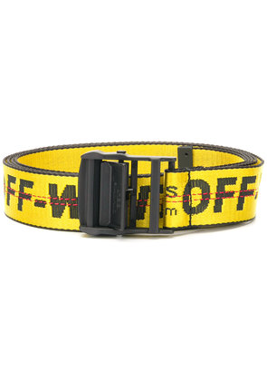 Off-White industrial logo belt - Yellow & Orange