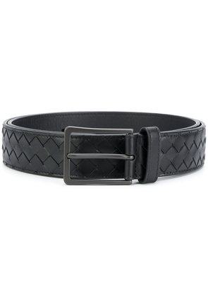 Bottega Veneta nero Intrecciato belt - Black