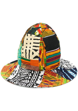 Engineered Garments African print patchwork dome hat - Multicolour