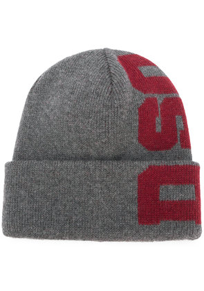 Dsquared2 logo embroidered beanie - Grey