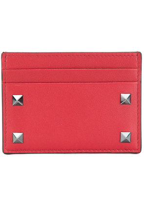 Valentino front printed cardholder - Red
