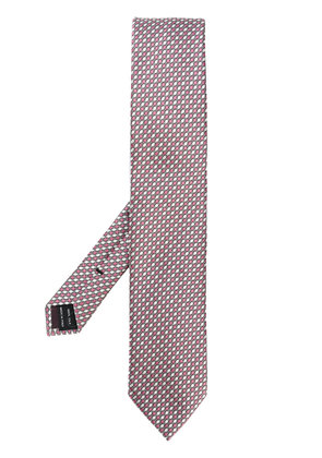Tom Ford patterned tie - Pink & Purple
