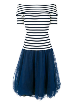 P.A.R.O.S.H. striped tulle dress - Blue