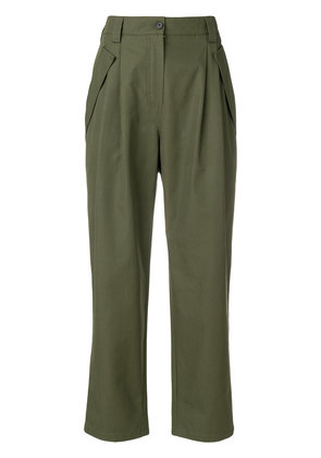 Valentino high waisted cargo trousers - Green