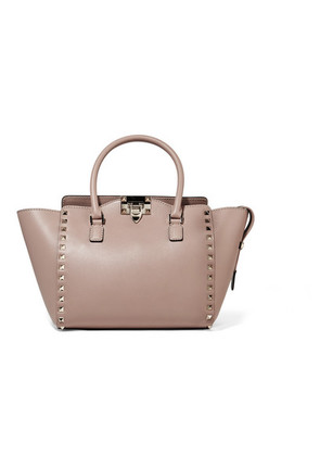 Valentino - Valentino Garavani The Rockstud Leather Tote - Neutral