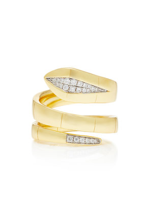 Fallon Wrap Gold-Plated Cubic Zirconia Ring