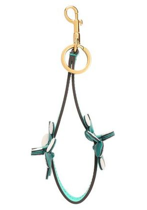 Anya Hindmarch Woman Floral-appliquéd Leather Keychain Jade Size -