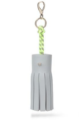 Anya Hindmarch Woman Tasseled Leather And Rope Keychain Sky Blue Size -