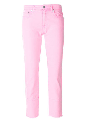 MSGM skinny cropped jeans - Pink