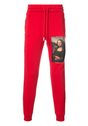 Off-White Monalisa print track pants - Red