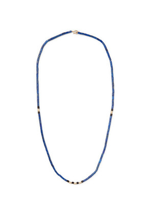 Beaded Wood And 14-karat Gold Necklace