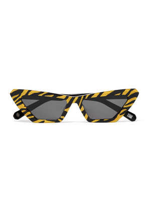 CHIMI - Tiger Printed Cat-eye Acetate Sunglasses - Yellow