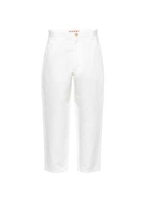 Cotton and linen cropped pants