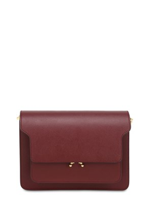 MEDIUM TRUNK SAFFIANO LEATHER BAG