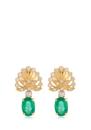 EMERAUDE 18KT GOLD & EMERALD EARRINGS
