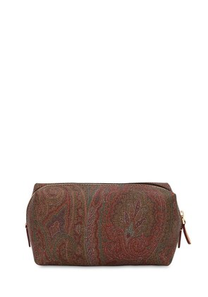 PAISLEY PRINTED FAUX LEATHER ZIP CASE