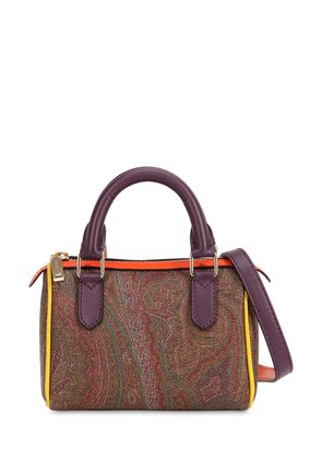 PAISLEY PRINTED FAUX LEATHER BAG