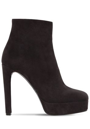 120MM SUEDE ANKLE BOOTS