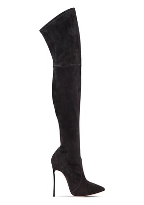 120MM BLADE SUEDE OVER THE KNEE BOOTS