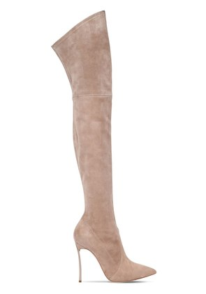 100MM BLADE SUEDE OVER THE KNEE BOOTS