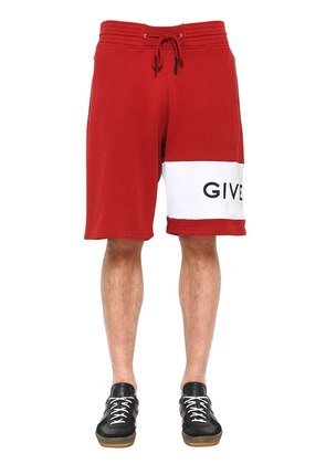 LOGO EMBROIDERED JERSEY BERMUDA SHORTS