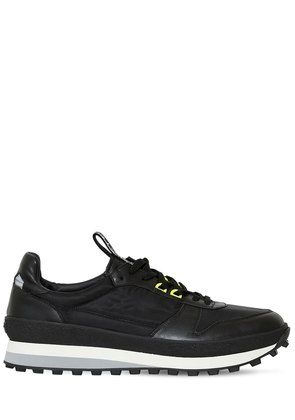 LEATHER & NYLON RUNNING SNEAKERS