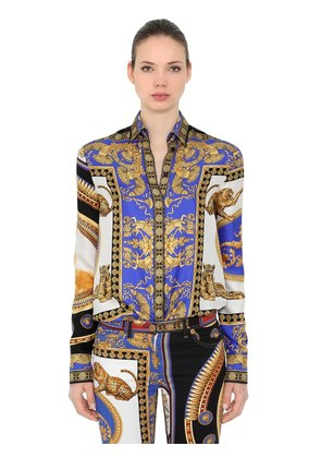 THE LOVERS PRINTED SILK TWILL SHIRT