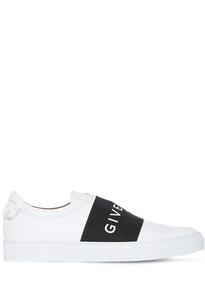 URBAN STREET LEATHER SLIP-ON SNEAKERS