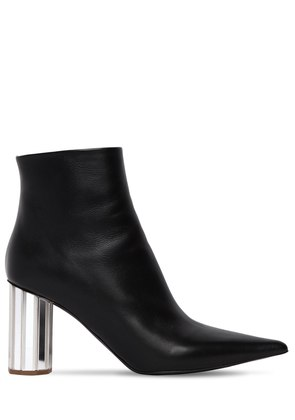 90MM POINTY LEATHER ANKLE BOOTS