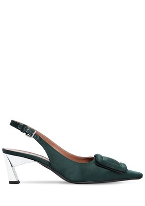 60MM SATIN SLINGBACK PUMPS