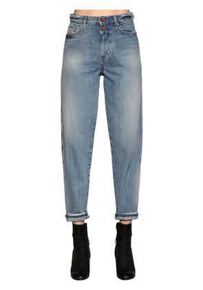 FADED COTTON DENIM JEANS