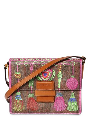 RAINBOW PRINTED FAUX LEATHER BAG