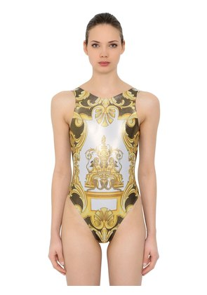 LYCRA SHINY PRINTED SWIMSUIT